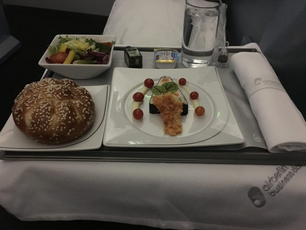 Airberlin Business Class Dinner Vorspeise