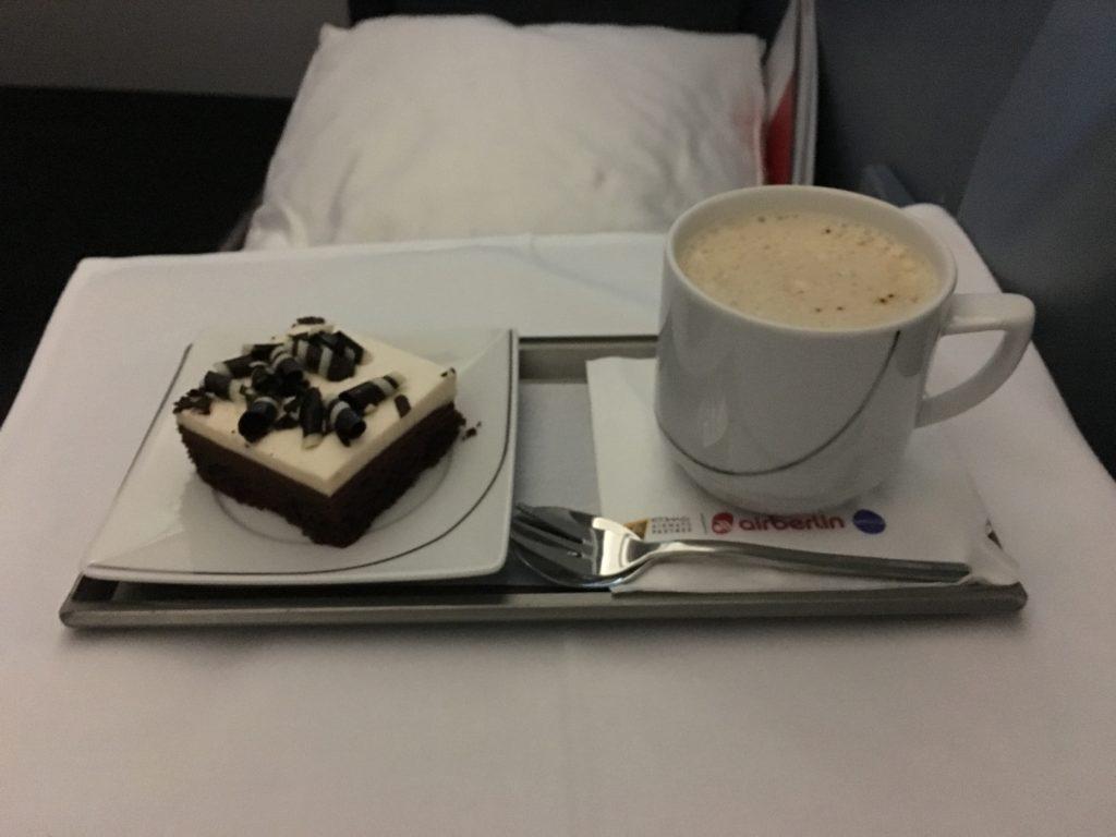 Airberlin Business Class Dinner Dessert