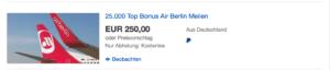 Airberlin Meilen bei Ebay