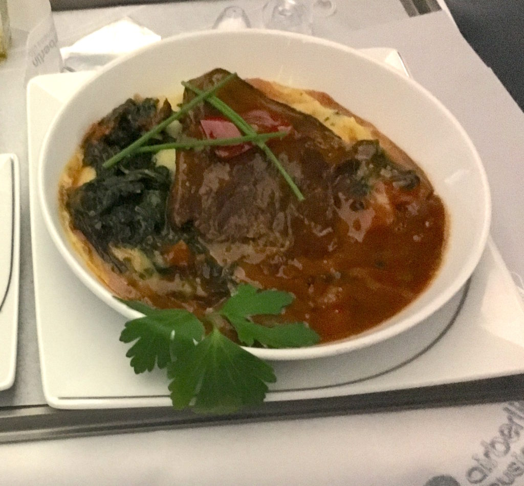 Airberlin Business Class Dinner Hauptspeise