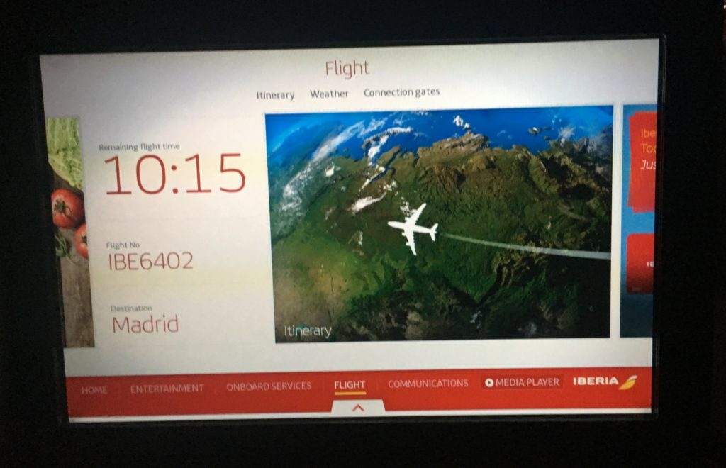 Iberia Business Class Entertainment System