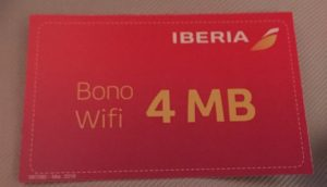 Iberia Business Class Wifi Voucher