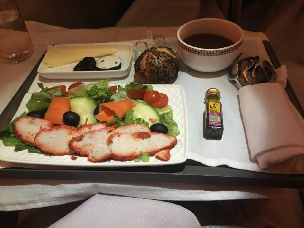 Iberia Business Class Starter, Dinner