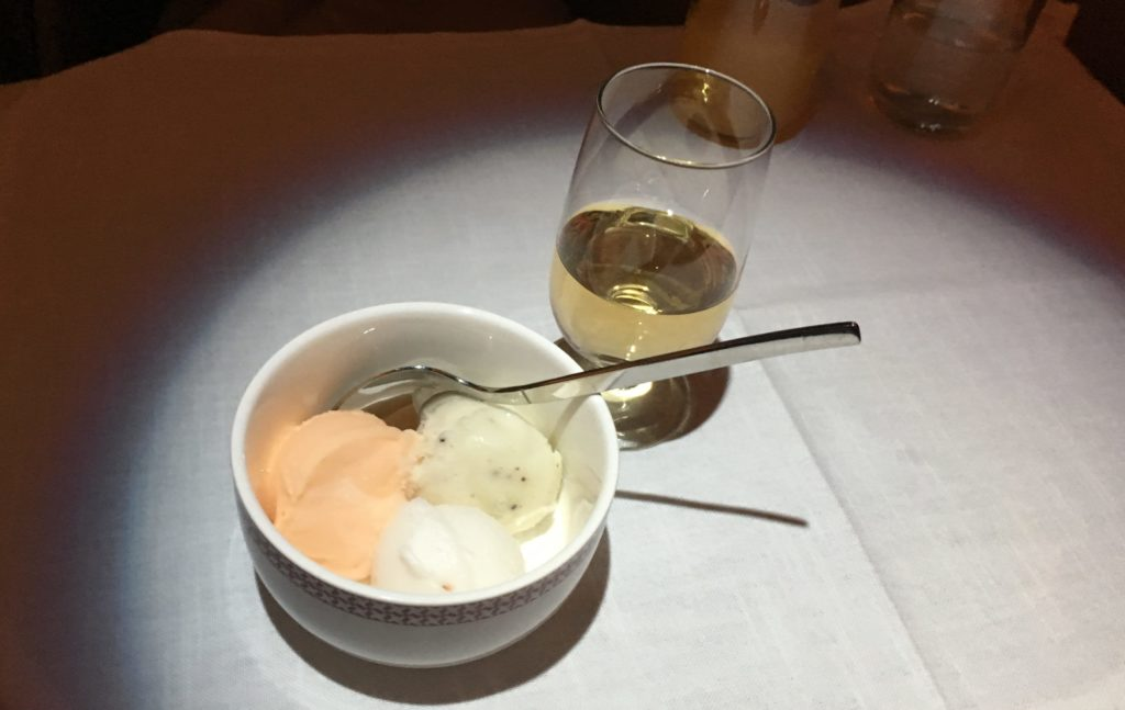 Iberia Business Class Dessert, Dinner