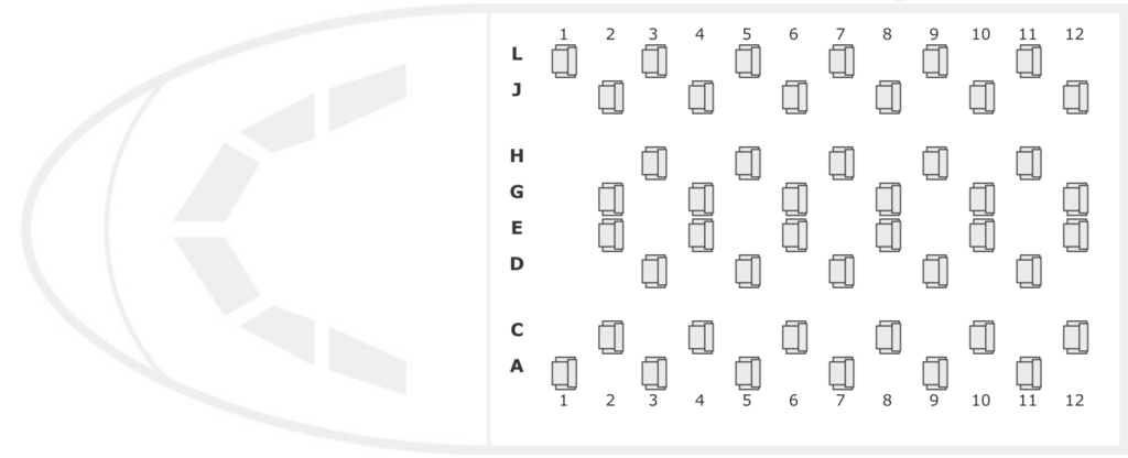Iberia A340-600 Business Class Seatmap