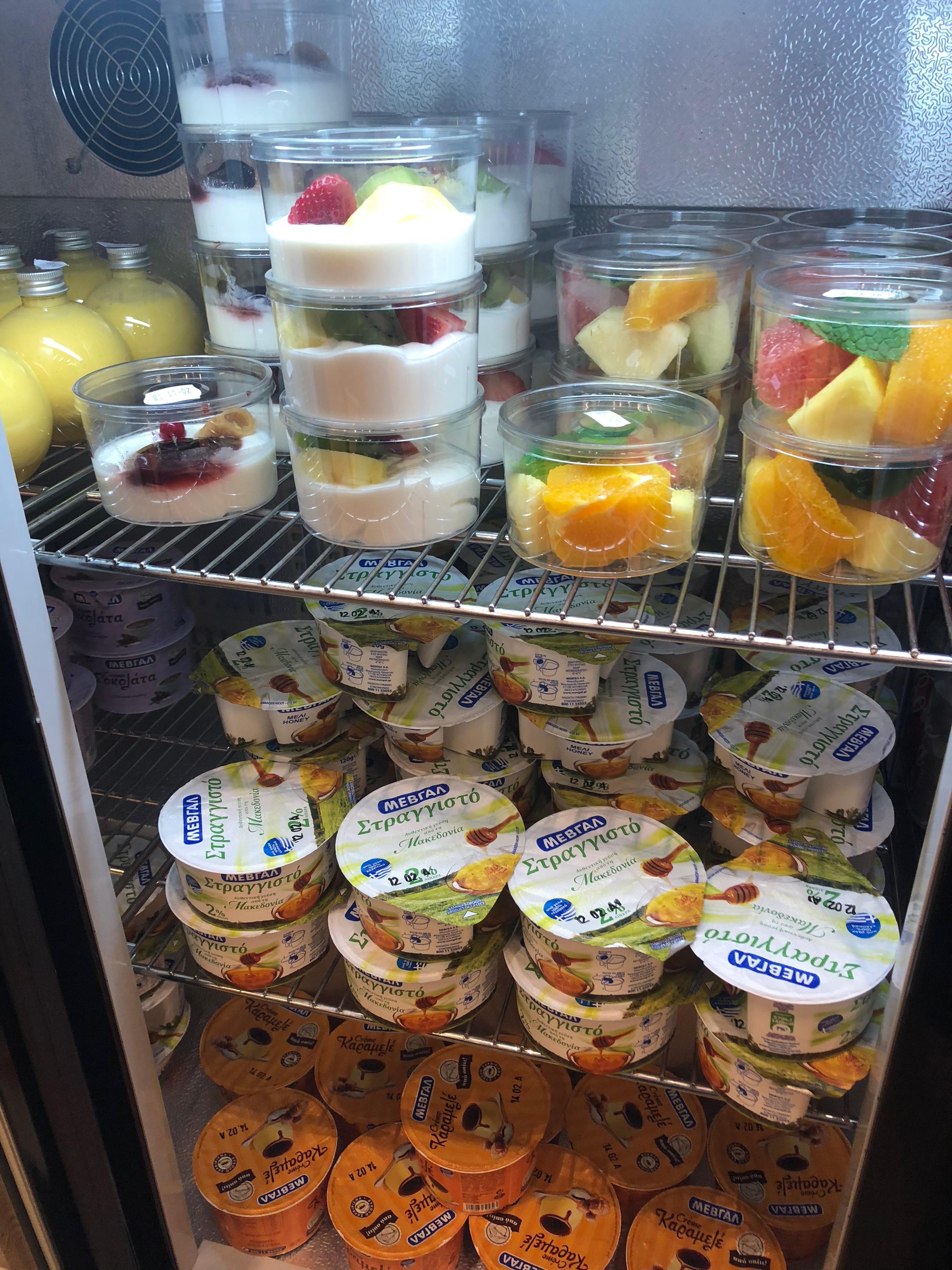 Obstsalat, Joghurt