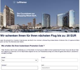 Lufthansa Gutschein Herbst 2018 20EUR