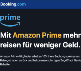 Booking.com mit Amazon Prime