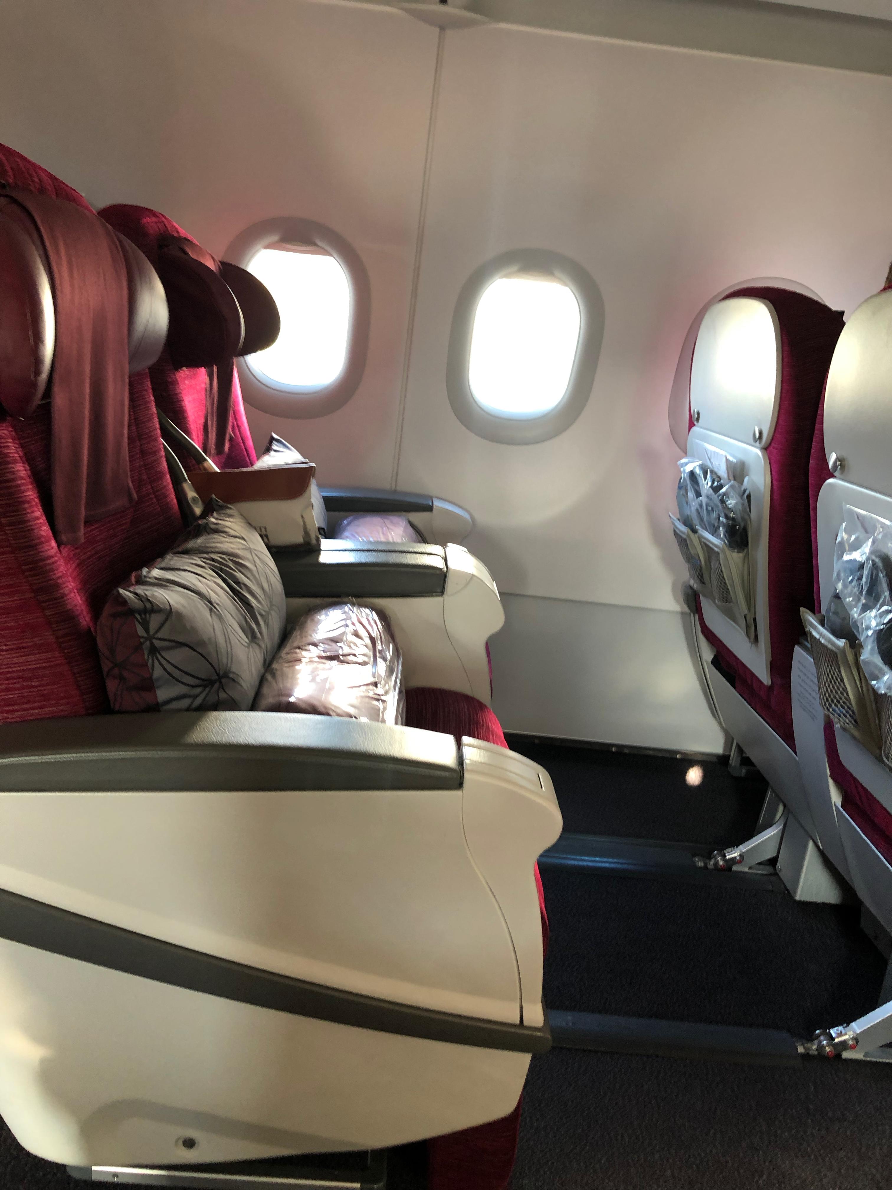 Qatar A320 Business Class Sitz