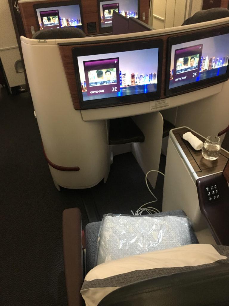Qatar A330 Business Class Sitz